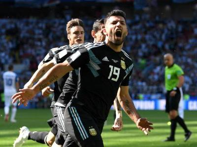Aguero scores first World Cup goal after eight-game drought
