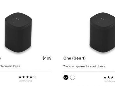 New 'Sonos One' Speaker Launches With Upgraded Internals and No Design Changes