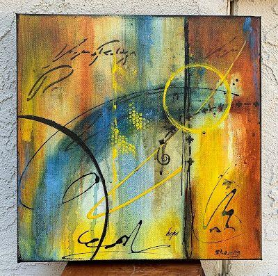 """Expressionism, Contemporary Painting, Mixed Media Art, """"Patience"""" by Texas Contemporary Artist Sharon Whisnand"""