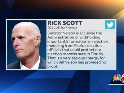 Gov. Scott wants proof of Sen. Nelson's claims that Russians have breached election systems