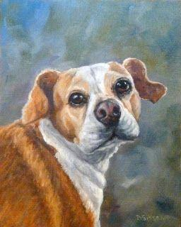 Shockey Oil Dog Painting Pet Art Animal Commission Portrait