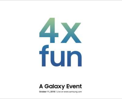 Samsung will reveal a new device at its '4x fun' event on October 11th