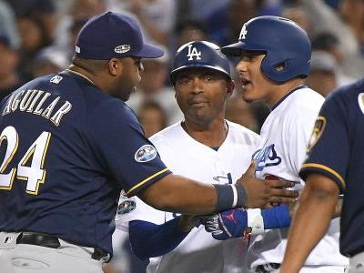Brewers rip 'dirty' Manny Machado for kicking Jesus Aguilar during NLCS Game 4