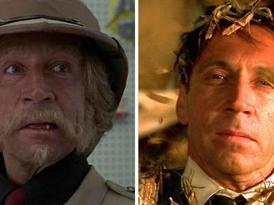 Why does Jonathan Hyde does two roles in Jumanji?