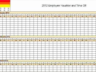 30 Beautiful Excel Vacation Calendar Template 2016 Pics