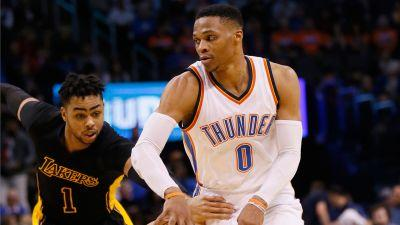 Westbrook gets 28th triple-double to lead Thunder past Lakers