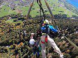 First-time hang-glider's pilot forgets to attach him to the craft
