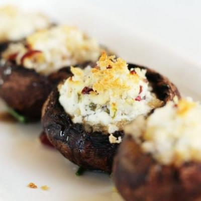 Goat Cheese Stuffed Mushrooms