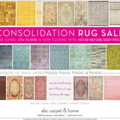 Abc carpet Consolidation Rug Sale 888 Broadway - New York, NY