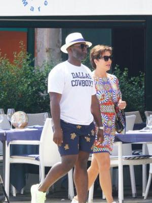 Kris Jenner Rocks a Printed Minidress While Holding Hands With Boyfriend Corey Gamble in Italy - See Photos!