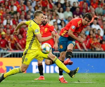 Spain beats Sweden to stay ahead in Euro 2020 qualifying