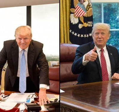 Trump Tower vs. the White House: Inside the president's 2 offices, from Shaq's sneaker to Ronald Reagan's old rug