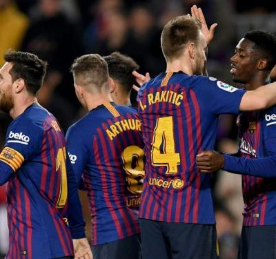 Barcelona 3 Levante 0 : Dembele at the double as Barca advance