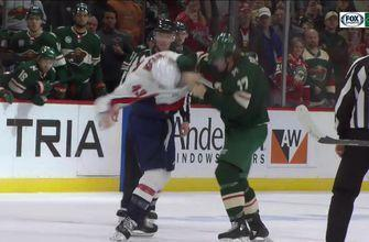 WATCH: Wild's Marcus Foligno drops the gloves with Tom Wilson