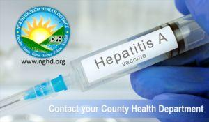 "Hepatitis A Alert: North Georgia Health Department: ""we urge food service workers to get vaccinated, as well."""
