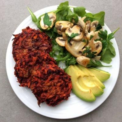 Beetroot and Carrot Fritters