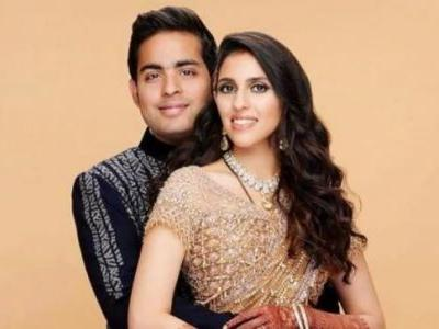 Meet the new Mr and Mrs Ambani. Akash Ambani and Shloka Mehta are stunning in first wedding portrait