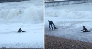 Woman Risks Her Own Life To Save Her Drowning Dog