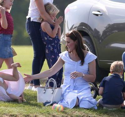 Princess Charlotte attempting a headstand while Kate Middleton cracks up laughing is the best thing you will see all day