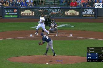 WATCH: Brewers' Aguilar, Shaw, Thames hit back-to-back-to-back homers