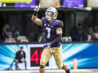 Huskies' Taylor Rapp selected in second round of NFL draft by Los Angeles Rams
