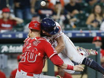Jonathan Lucroy injury update: Angels catcher being checked for possible concussion, broken nose