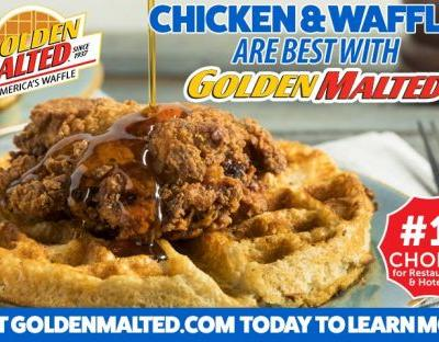 Chicken and Waffles are Best with Golden Malted