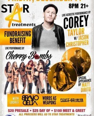 COREY TAYLOR To Play Acoustic Set At Fundraising Benefit For STAR TREATMENTS