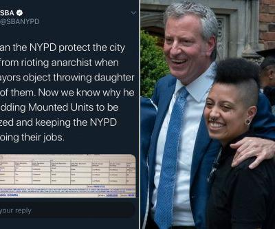 NYPD sergeants' union tweets and deletes Chiara de Blasio's arrest report