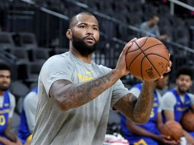 NBA wrap: DeMarcus Cousins scores 14 points in Warriors debut