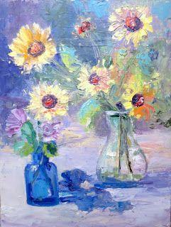 From Amy's Garden, Contemporary Floral Painting by Sheri Jones