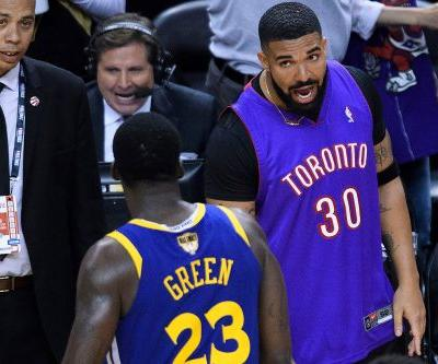 Drake and Draymond Green have heated exchange after NBA Finals game