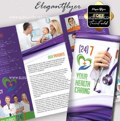30 Lovely Tri Fold Brochure Template Photoshop Graphics