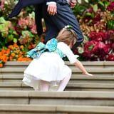 LOL, Charlotte Was So Busy Waving, She Tripped Up the Stairs at Princess Eugenie's Wedding
