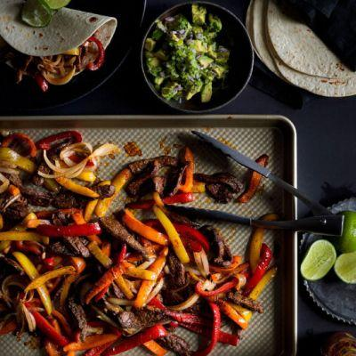 Sheet Pan Dinner: Beef Fajitas