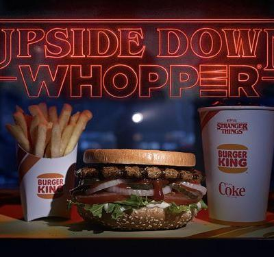 Burger King's New 'Stranger Things' Special Is Literally an Upside-Down Whopper