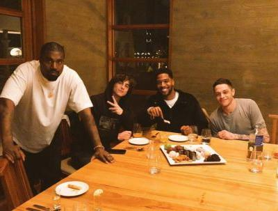 Kanye West Hangs Out with Pete Davidson and Timothée Chalamet for Kid Cudi's Birthday - and We're Confused AF