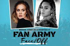 Fan Army Face-Off: Beyonce's Beyhive vs. Adele's Daydreamers in Round One