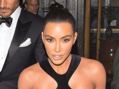 Hot Mama! Kim Kardashian Bares All in Cut-Out Dress