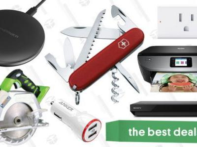 Saturday's Best Deals: Qi Chargers, Swiss Army Knives, GreenWorks Tools, and More