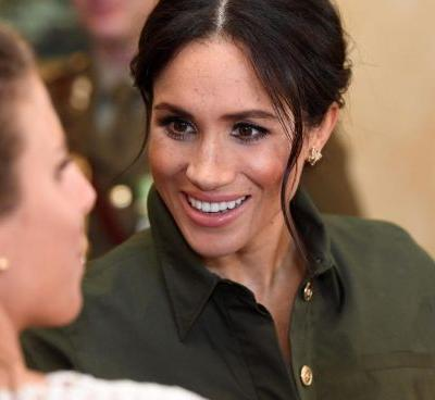 Meghan Markle Wore a Thing: Brandon Maxwell Shirt Dress in Australia Edition