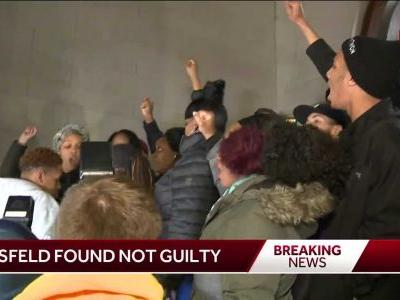 Crowds gather after former officer found not guilty in shooting death of Antwon Rose