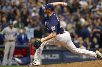Corey Knebel strikes out Justin Turner to seal dramatic 6-5 win for Brewers in Game 1