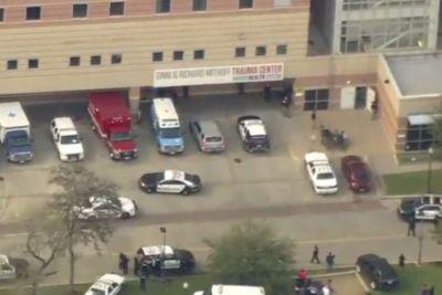 Cops hunt for possible gunman at Texas hospital
