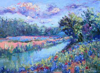 Natural Blues, New Contemporary Landscape Painting by Sheri Jones