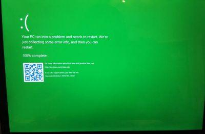Windows 10's blue screen of death is going green for testers