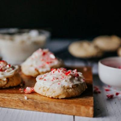 Candy Cane Cake Box Cookies