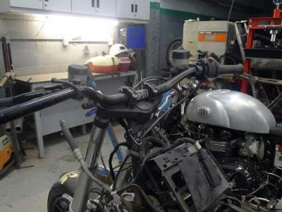 BCR's 2002 BMW R1200 GS Urban Assault Scrambler Build: Chopped Rear and low rise bars