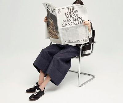 """LOEWE's FW21 """"A Show In The News"""" Offers an Alternative to the Fashion Show"""