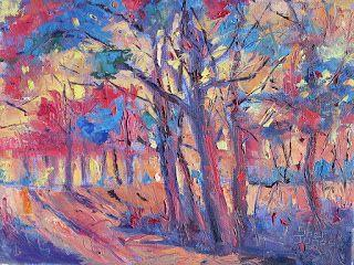 Abstract Color Forest, New Contemporary Landscape Painting by Sheri Jones